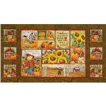Time To Harvest Panel Brown/Multi