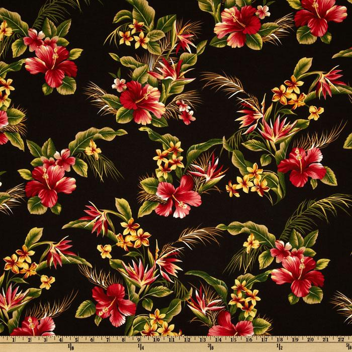 Tradewinds Tropicals Hibiscus Red/Black