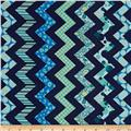 Chevron Chic Patterned Chevron Navy/Aqua