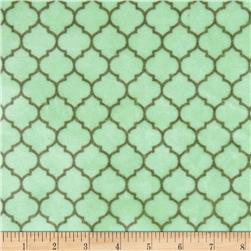 Minky Cuddle Romance Lattice Sage