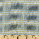 0275530 Wool Blend Suiting Checked Yellow/Blue