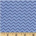 Alpine Flannel Basics Chevron Medium Blue
