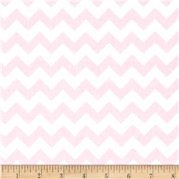 "Riley Blake 58"" Manufactures Cut Small Chevron Baby Pink"