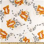 0271095 Angeline Chiffon Floral Blossom Orange/White