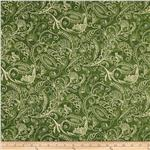 0289345 Complementary Dotty Paisley 108&quot; Backing Green