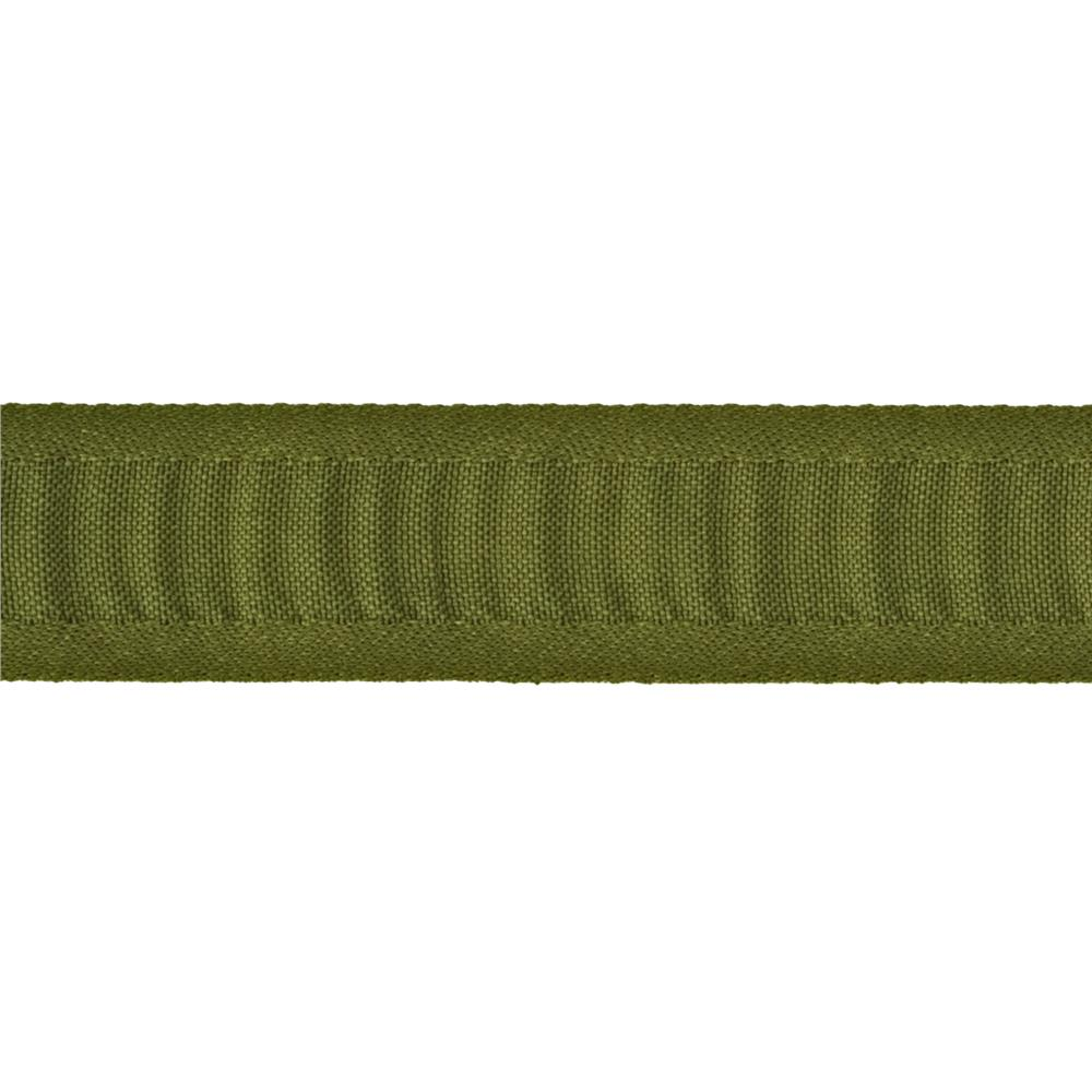 "7/8"" Ruched Ruffle Satin Edge Ribbon Dark Olive"