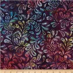 Moda Color Crush Batiks Leaf Amethyst/Prism