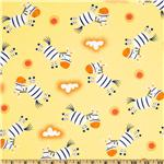 Go Safari Tossed Zebra Yellow