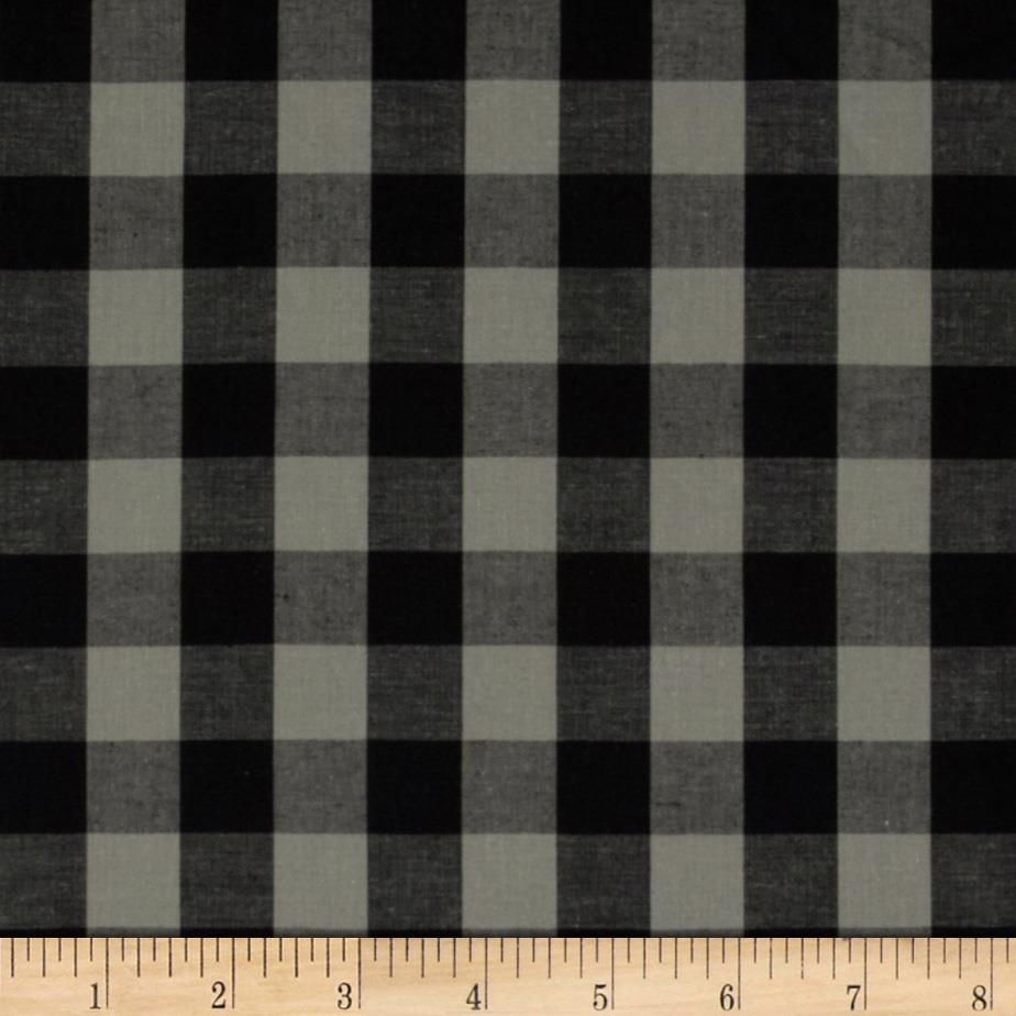 Prepster Stretch Yarn Dyed Shirting Plaid Grey/Black