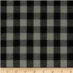 0265004 Prepster Stretch Yarn Dyed Shirting Plaid Grey/Black