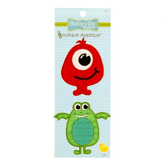 Babyville Boutique Appliques Monster