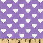 0290483 Michael Miller It's A Girl Thing Hearts All Over Hearts Purple