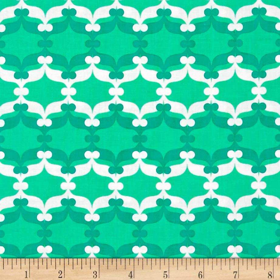 Fancy Flight Organic Mod Trellis Stripe Garden Green