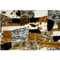 Crazy Patch Faux Fur Multi