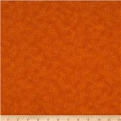 Moda Bobbins & Bits Stitching Swirls Tangy Orange