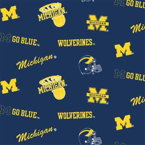 Collegiate Fleece University of Michigan Tossed