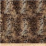 0265189 Safari Shimmer Stretch ITY Knit Cheetah Tan/Gold