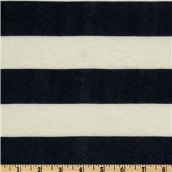 Designer Cotton Jersey Knit Stripes Navy/White