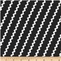 I Like You Ric Rac Stripe Black