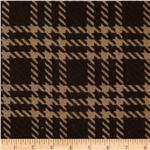 0275434 Wool Blend Coating Large Glen Plaid Brown/Tan