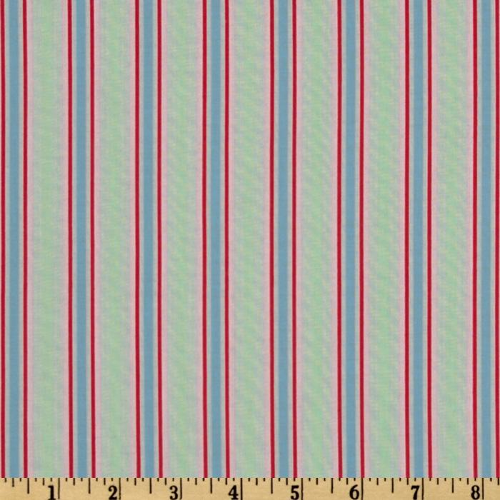 Folk Heart Stripe Green/Blue