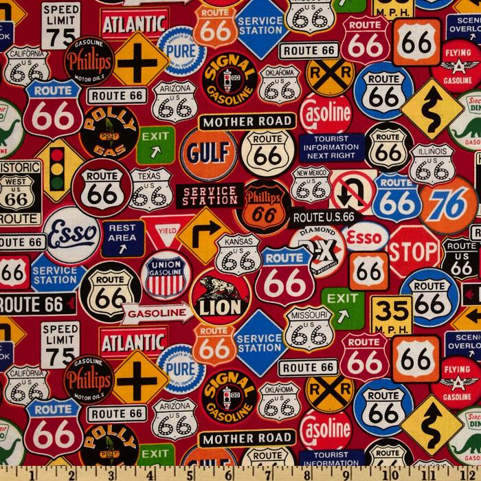 Get Your Kicks Route 66 Signs Red