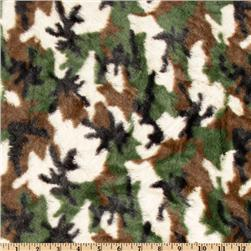 Minky Cuddle Plush Camo Green/Ivory/Black
