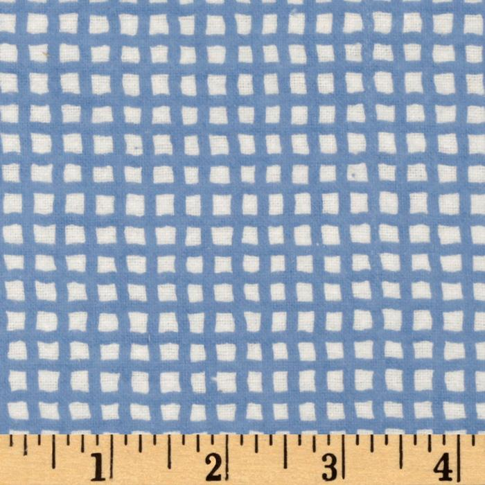 Bitty Baby Flannel Grid Blue/White