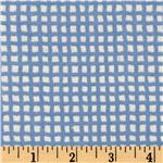 EG-674 Bitty Baby Flannel Grid Blue/White