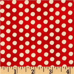 Holiday Dreams Dots Red/Cream