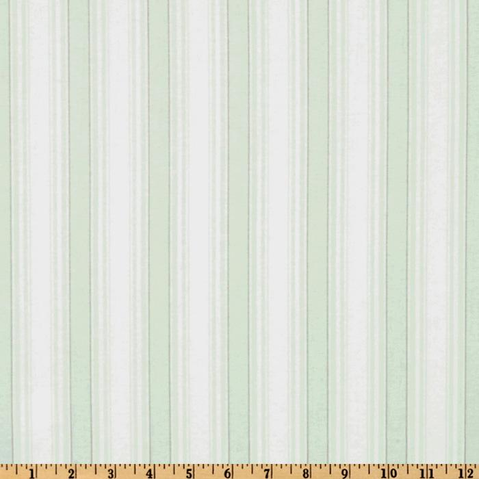 Treasures by Shabby Chic Garden Rose Stripe White/Mint Green