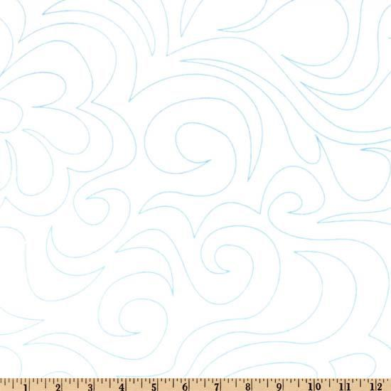 108&quot; Dream Line Quilting Fabric White