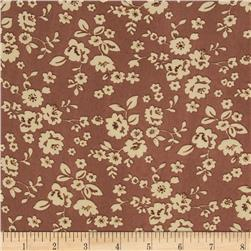 Madeline Shirting Small Floral Sienna/Cream
