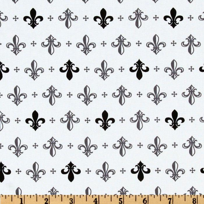 Metro Living Fleur De Lis Grey
