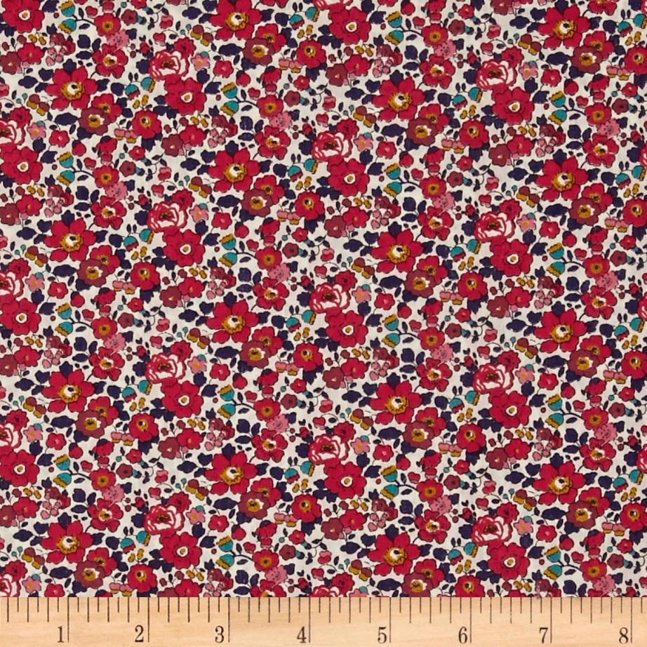 Liberty Of London Tana Lawn Betsy Ann Red/Dark Blue/White