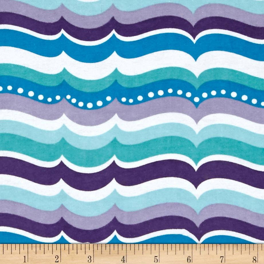 Alpine Flannel Turtles Waves Purple