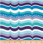 0271496 Alpine Flannel Turtles Waves Purple