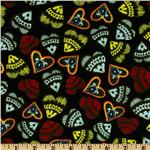 Folk Heart Hearts Black/Multi