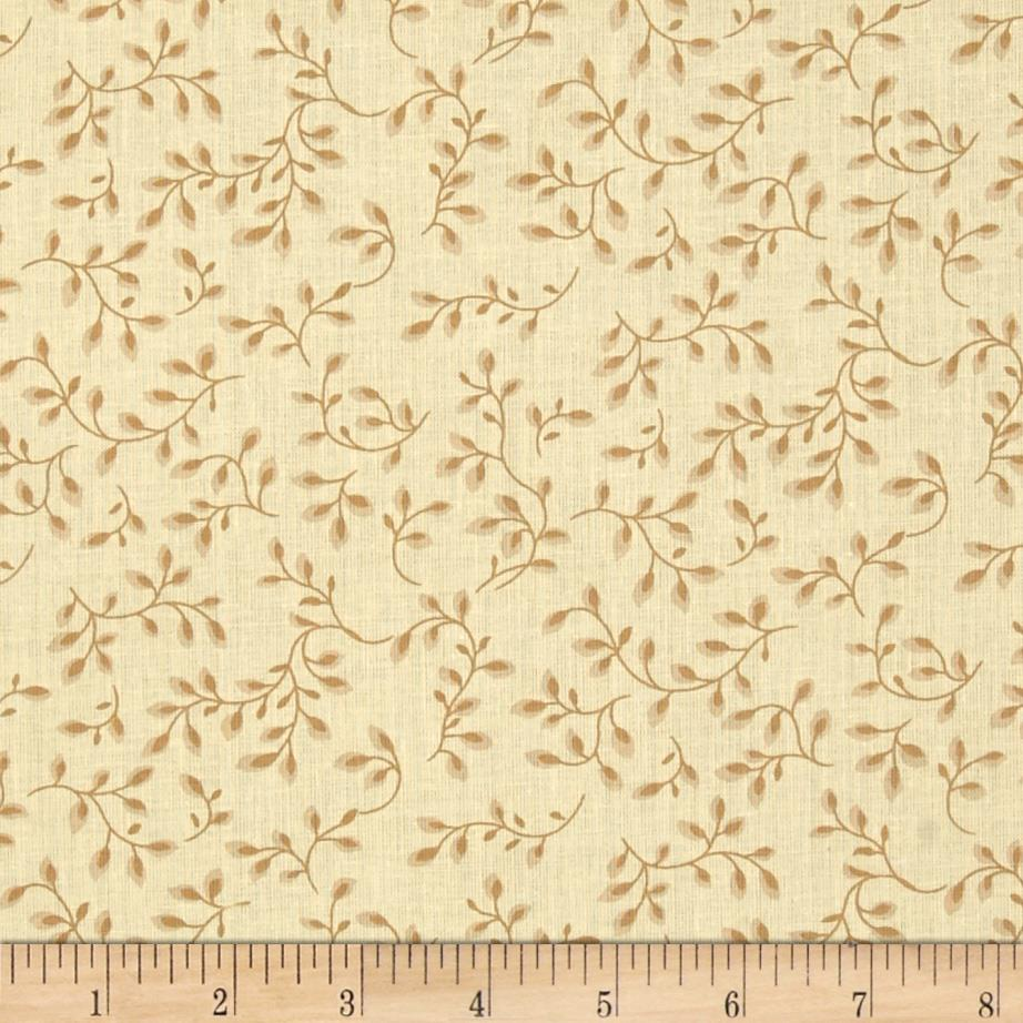 108'' Wide Quilt Backing Folio Vines Tan