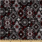 Bandana Large Paisley Medallion Black