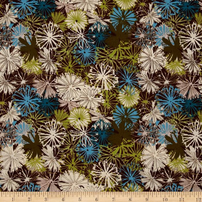 Blue Skies Floral Brown