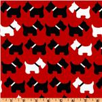 Urban Zoologie Slicker Laminated Cotton Dogs Ruby