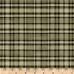 Designer Seersucker Plaid Dark Khaki