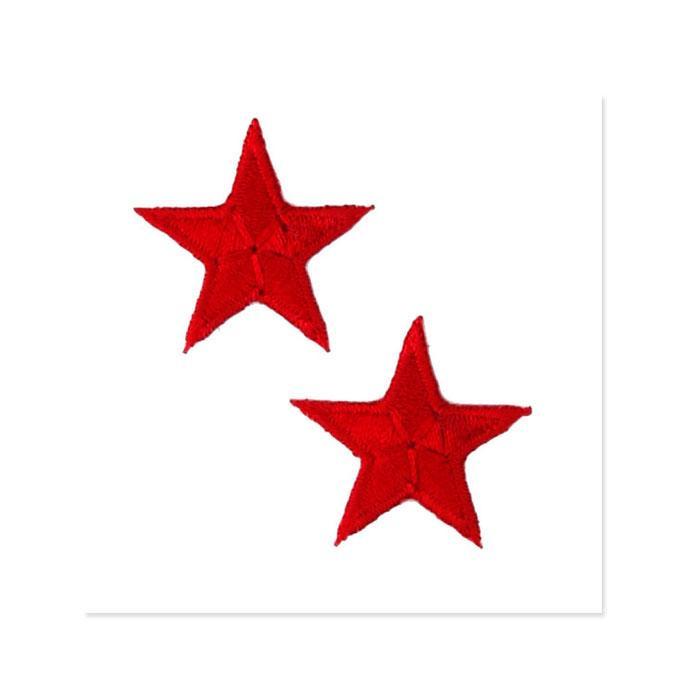 Boutique Applique Stars Red