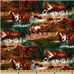 FM-754 Rivers Bend Horses Scenic Green