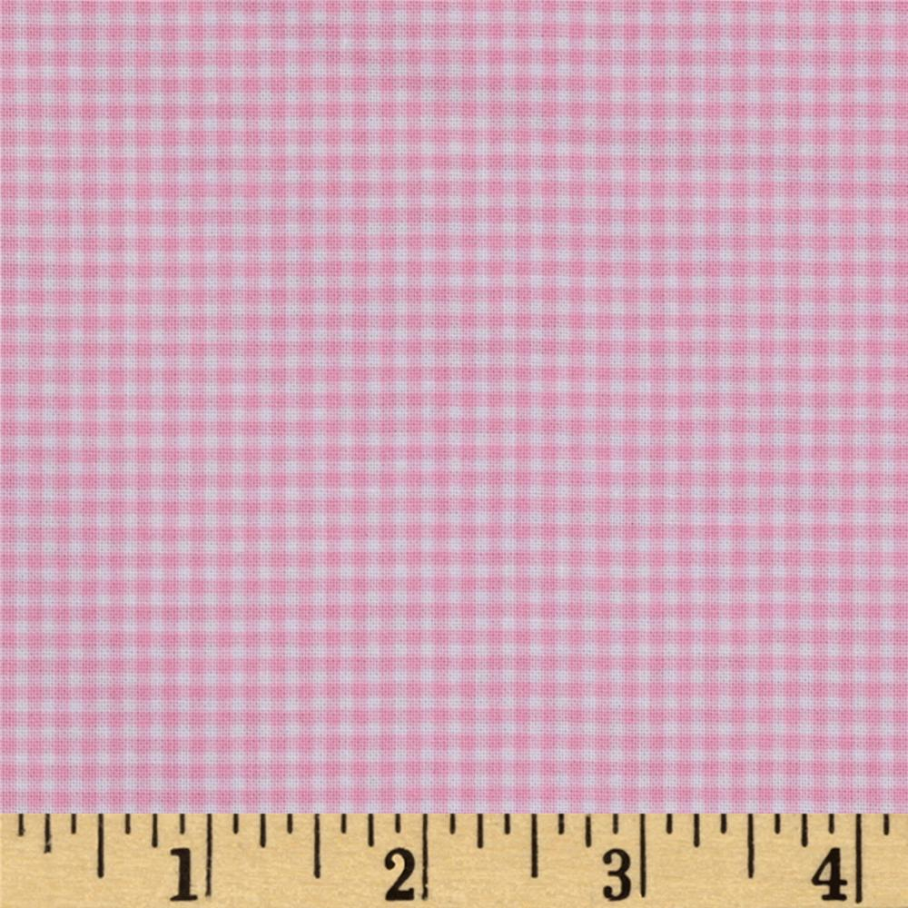 Michael Miller Mini Mikes Tiny Gingham Baby Pink