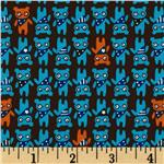 223812 Tiny Prints Bears Black/Blue