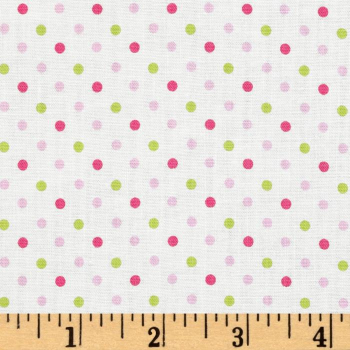 Stitched Garden Dots White/Multi