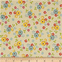 Riley Blake Sidewalks Small Floral Cream