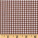 Woven 1/8&#39;&#39; Carolina Gingham Chocolate